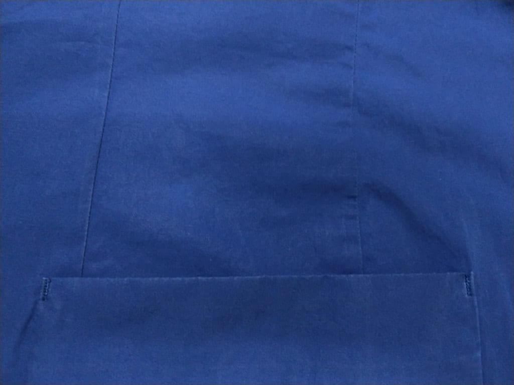 綿素材の青いジャケット 修正後